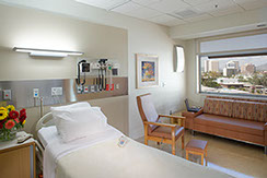 Barrow is an internationally renowned medical center for brain and spine diseases.  Patient Room in new Tower